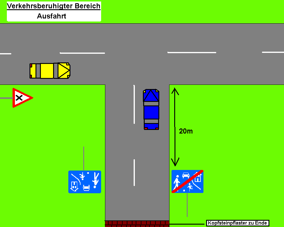 Verkehrsberuhigter Bereich Ende Verkehrskommentarde